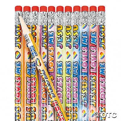 Pencil Jesus Loves Me 24 Pack 36/2997
