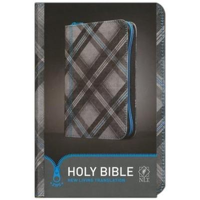 NLT Compact Canvas Blue Tartan Zipper