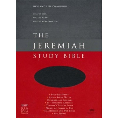 NKJV Jeremiah Study Genuine Leather Black