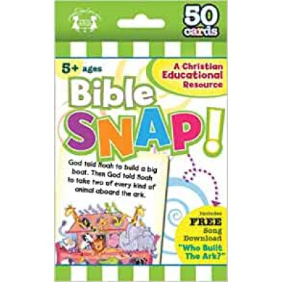 Bible Snap Christian 50 Count Game Cards  o/p