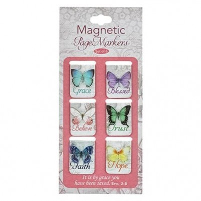 Pagemarker Set Magnetic Butterflies
