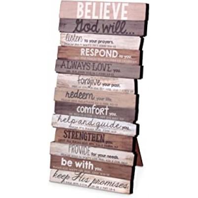 Believe Stacked Words Desktop