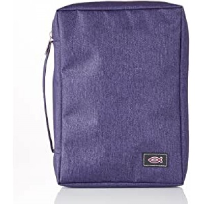 Bible Case Polycanvas Value Purple Small