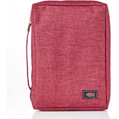 Bible Cover Burgundy Polyster Value
