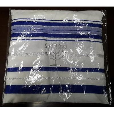 Prayer Shawl Blue W/Bag 72