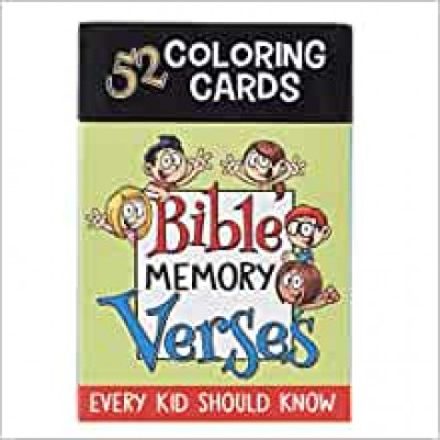 Bible Memory Verses 52 Coloring Cards