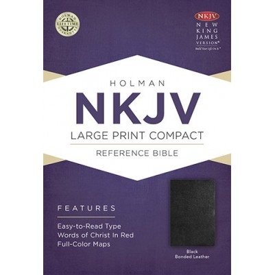 NKJV Large Print Compact Black B/L