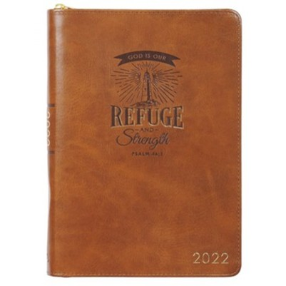 2022 Executive Planner Refuge and Strength Brown Zip