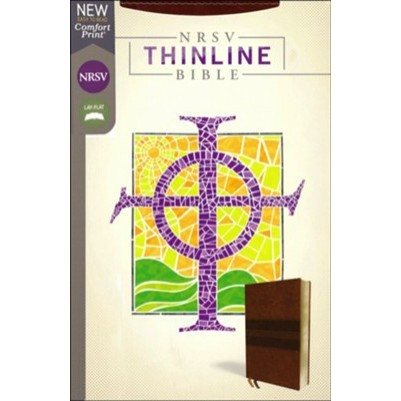NRSV Thinline Brown Comfort Print