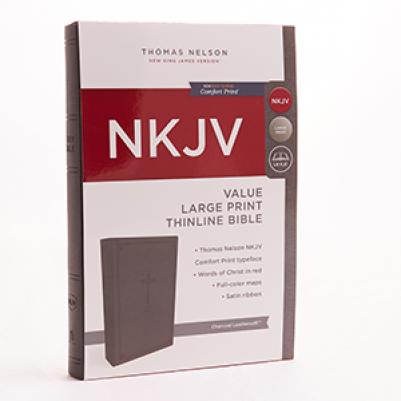 NKJV Large Print Value Thinline Charcoal