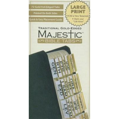 Majestic Bible Tabs Gold Large Print