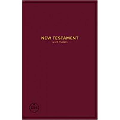 CSB Pocket New Testament with Psalms Burgundy