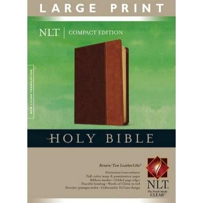 NLT Compact Large Print Brown Tan