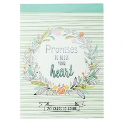 Promises to Bless Your Heart Coloring Postcards Book
