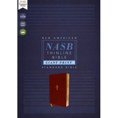 NASB Thinline Giant Print Brown I/L