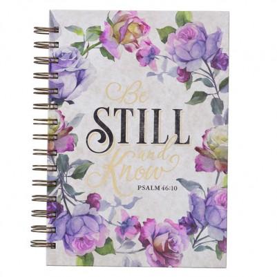 Be Still and Know Purple Floral Wirebound