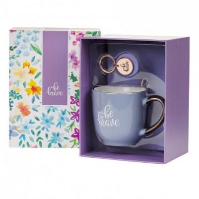 Be Brave Gift Set for Women (Journal Mug & Keyring