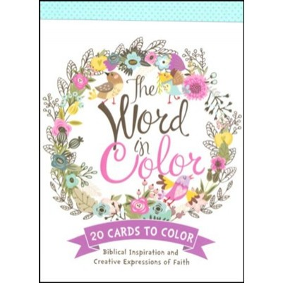 Word in Colour Colouring Postcards Book