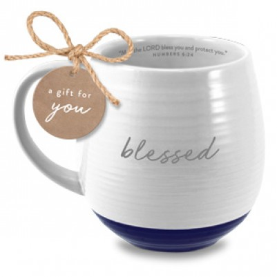 Blessed Ceramic White Numbers 6:24