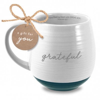 Grateful Ceramic White Psalm 4:7