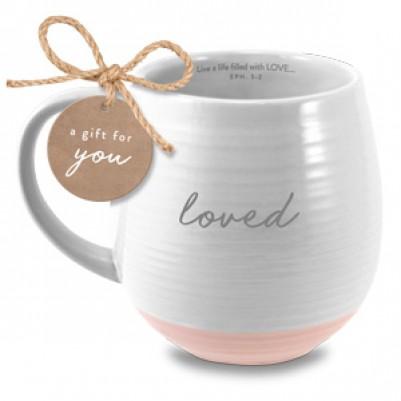 Loved Ceramic White Ephesians 5:2