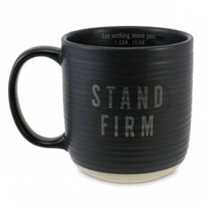 Stand Firm ceramic Black 1 Corinthians 15:58