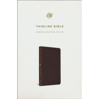 ESV Thinline Black Bonded Leather