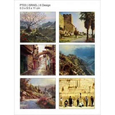 Coasters Set of 6 Israel Scenes