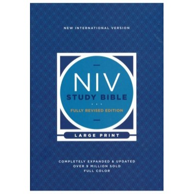 NIV Study Fully Revised Edition Large Print Hard Cover