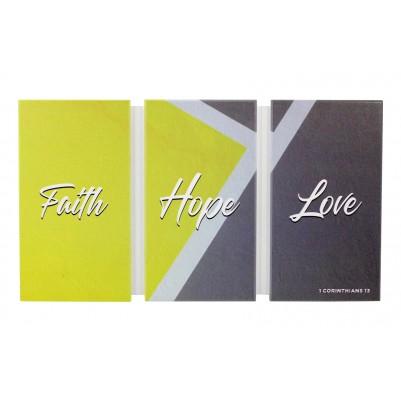 Faith Hope Love   36x20cm