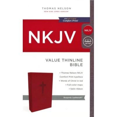 NKJV Value Thinline Burgundy Standard Print