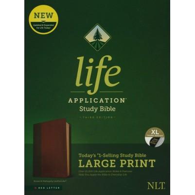 NLT Life Application Large Print Brown Red Letter 3rd Edit