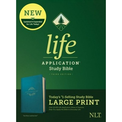 NLT Life Application Large Print Teal 3rd Ed Red Letter
