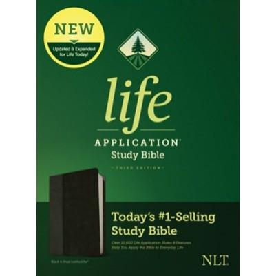 NLT Life Application Black/Onyx 3rd Edit