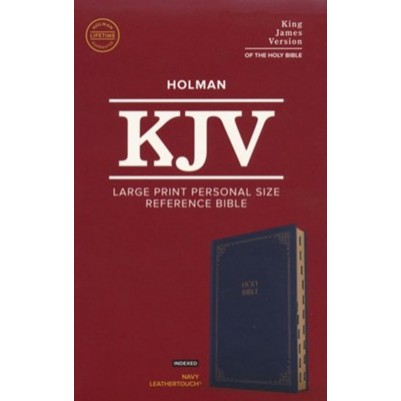 KJV Large Print Personal Size Indexed Navy
