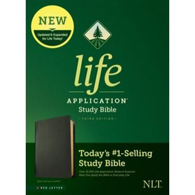 NLT Life Application Study 3rd Edition Black G/L R/L