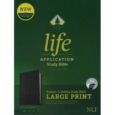 NLT Life Application Large Print Indexed Black 3rd Edition