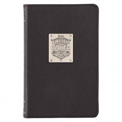 Anchor Badge Black Slimline Luxleather Journal with Bag