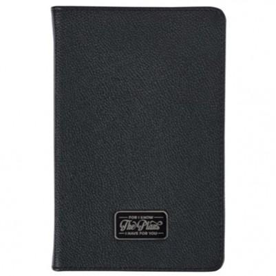 Plans Badge Black Slimline Luxleather Journal