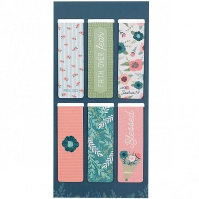 Pagemarker Set Magnetic Floral Garden