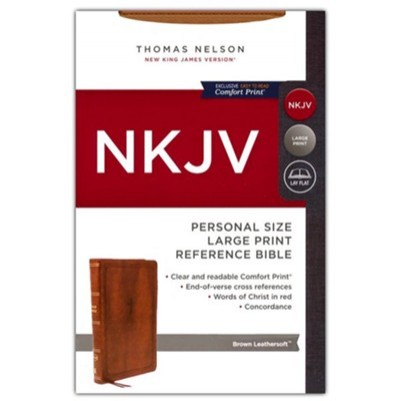 NKJV Large Print Personal Size Brown End Of Verse Reference