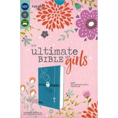 NIV Ultimate Girls Faithgirlz Teal I/L