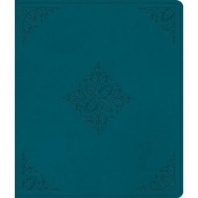 ESV Journaling Bible Deep Teal Fleur De Lis Design