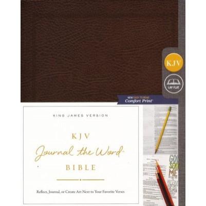 KJV Journal Word Bible Brown Bonded Leather