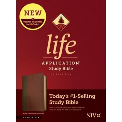 NIV Life Application Study 3rd Edition Brown/Mahogany I/L