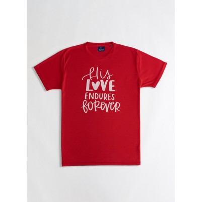 His Love TShirt Red M  Drifit