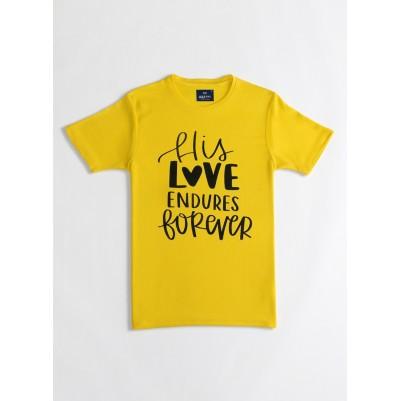 His Love TShirt Yellow S Drifit