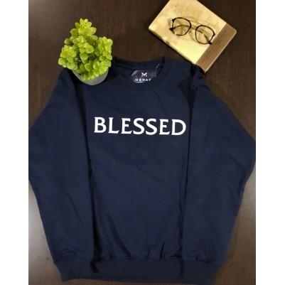 Blessed Navy Blue XL Sweatshirt