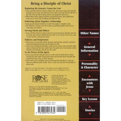 Twelve Disciples Pamphlet Life And Ministry Of Jesus