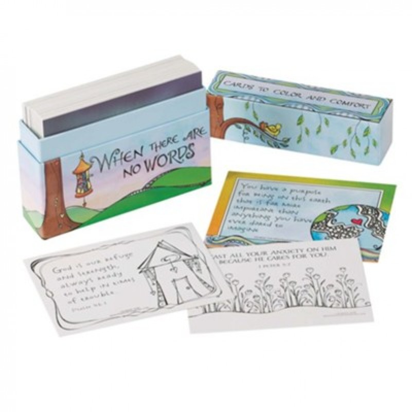 Boxed Cards To Colour Where There Are